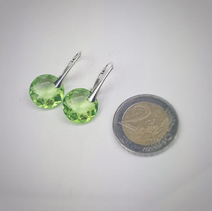 August BIRTHSTONE LEO Peridot crystal earrings