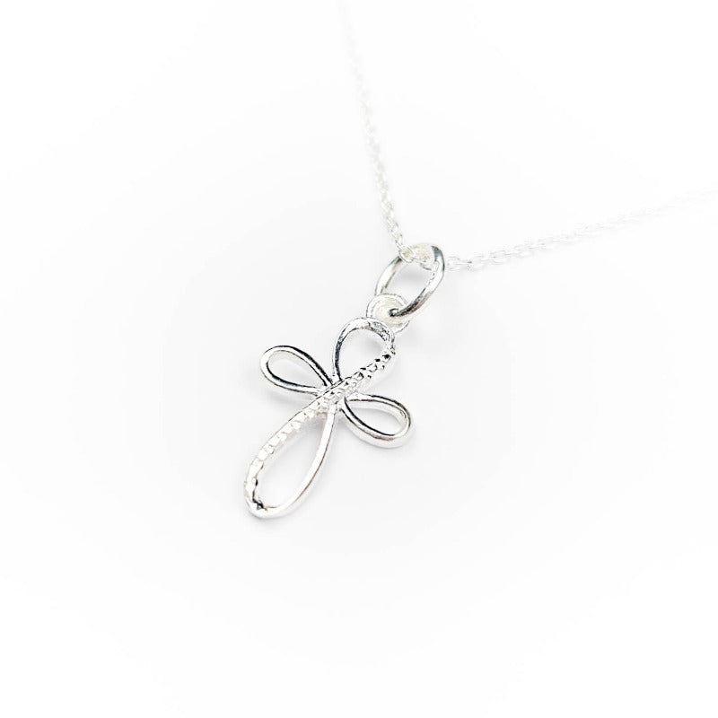 Silver Cross Necklace | Gift for first Communion | Confirmation | Christening