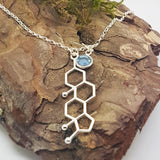 Be Mindful Birthstone Necklace, [product type], - Personalised Silver Jewellery Ireland by Magpie Gems