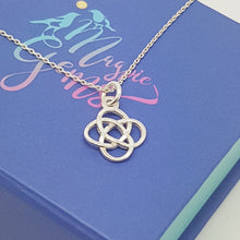 Load image into Gallery viewer, Celtic Love Knot Silver Pendant Necklace