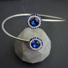 Load image into Gallery viewer, Dazzling Daisy Bangle Bracelet, [product type], - Personalised Silver Jewellery Ireland by Magpie Gems