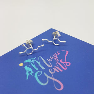 Be Passionate Dopamine Stud Earrings, [product type], - Personalised Silver Jewellery Ireland by Magpie Gems