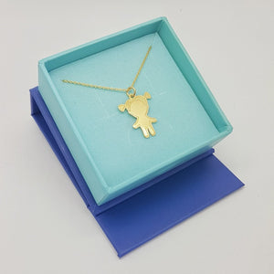 Little girl gift sterling silver necklace with gift box (24k gold plated)