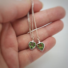 Load image into Gallery viewer, Heart Threader Earrings in Silver