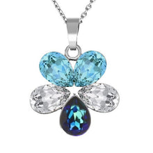 Load image into Gallery viewer, Horizon Blue Aquamarine bermuda blue crystal clear silver necklace made in Ireland by magpie gems