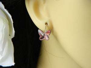 Butterfly Leverback Silver Earrings | Choose your colour