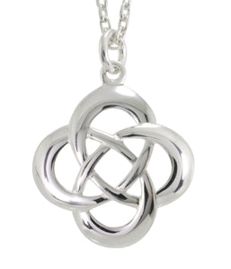 Celtic Love Knot Silver Pendant Necklace, [product type], - Personalised Silver Jewellery Ireland by Magpie Gems