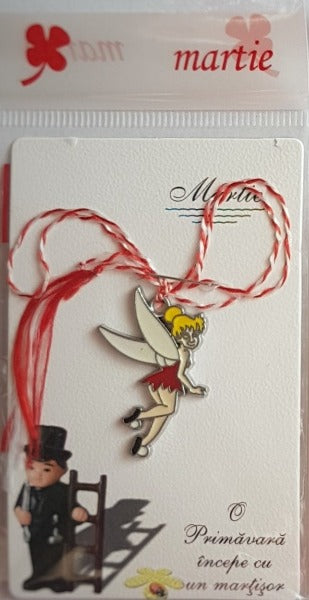 Tinker Bell Lucky Spring Charm | Martisor | Martenitsa | мартеница | μάρτης var.1, [product type], - Personalised Silver Jewellery Ireland by Magpie Gems