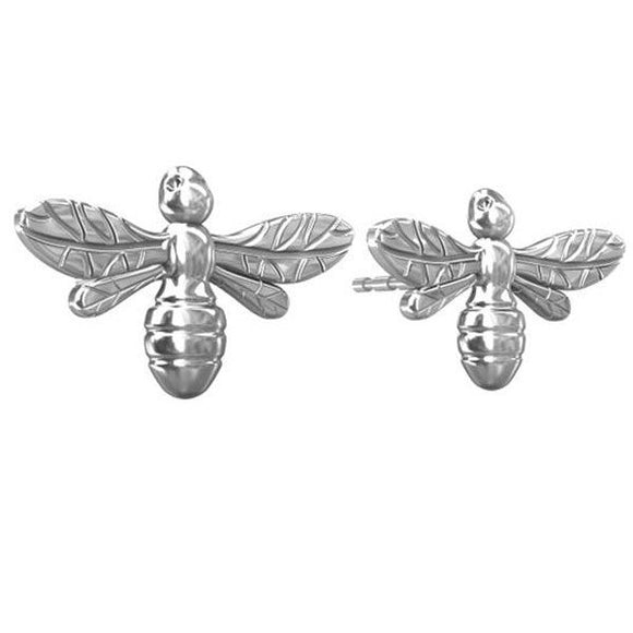 Bee Silver Studs