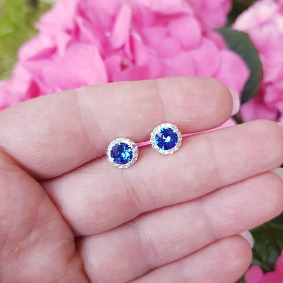 Daisy Hallo Stud Earrings | Victorian Style, [product type], - Personalised Silver Jewellery Ireland by Magpie Gems