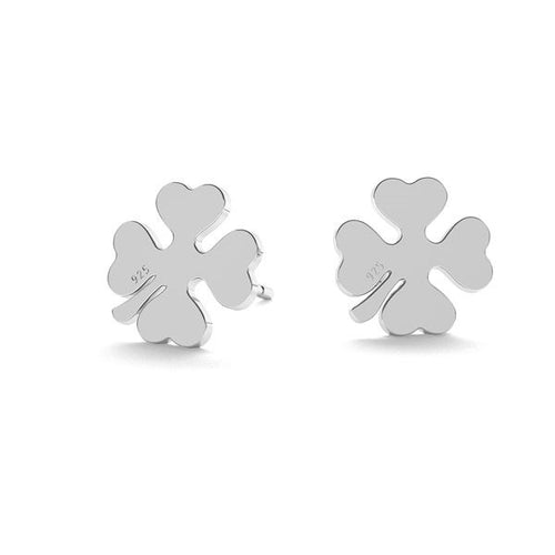 I feel Lucky | Clover Post Silver Earrings, [product type], - Personalised Silver Jewellery Ireland by Magpie Gems
