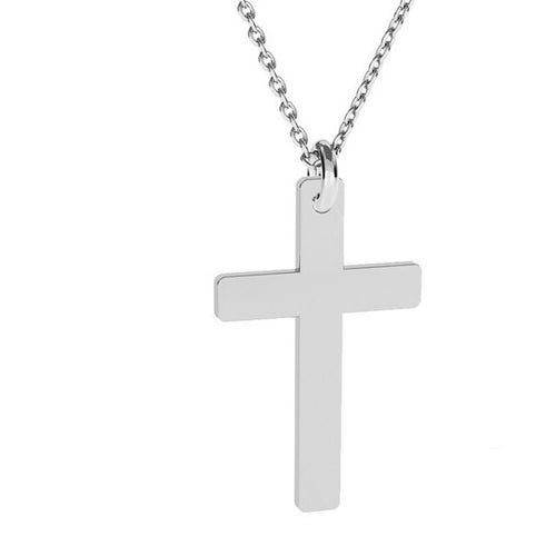 Silver Cross Religious Silver Necklace, [product type], - Personalised Silver Jewellery Ireland by Magpie Gems