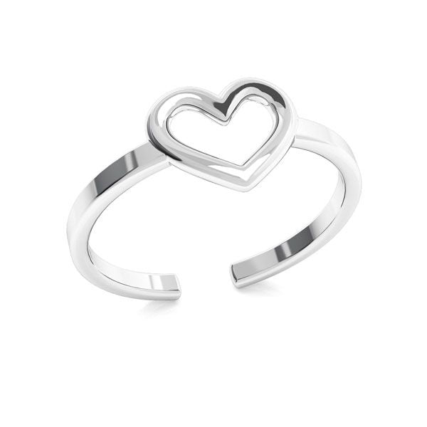 Heart Silver Ring | Knuckle Ring