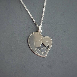You are my heart Necklace | Mother Daughter Gift, [product type], - Personalised Silver Jewellery Ireland by Magpie Gems
