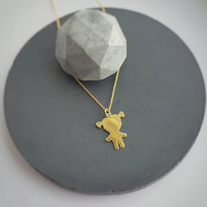 Little girl gift sterling silver necklace with gift box (24k gold plated), [product type], - Personalised Silver Jewellery Ireland by Magpie Gems