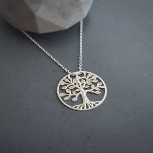 Irish Tree of Life Necklace | Sterling Silver | Gift for Siblings, [product type], - Personalised Silver Jewellery Ireland by Magpie Gems