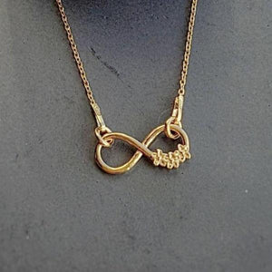 Infinity flowers - Minimal Necklace | Rose Gold Plated, [product type], - Personalised Silver Jewellery Ireland by Magpie Gems