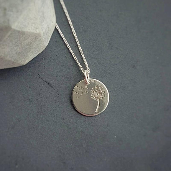 Make a wish - Dandelion Wish Necklace, [product type], - Personalised Silver Jewellery Ireland by Magpie Gems