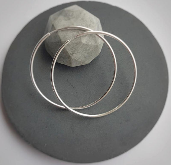 CREOLE - Large hoop earrings, [product type], - Personalised Silver Jewellery Ireland by Magpie Gems