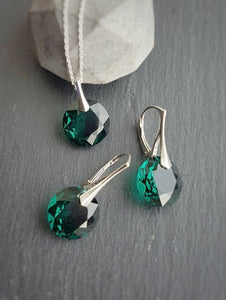 May Taurus Crystal BIRTHSTONE Set | Emerald, [product type], - Personalised Silver Jewellery Ireland by Magpie Gems