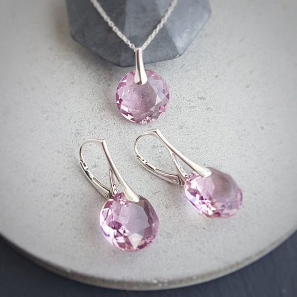 June Gemini Light Amethyst crystal BIRTHSTONE set, [product type], - Personalised Silver Jewellery Ireland by Magpie Gems