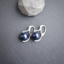 Load image into Gallery viewer, Pearl Drop Earrings with silver leverbacks | choose your colour, [product type], - Personalised Silver Jewellery Ireland by Magpie Gems
