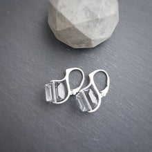 Load image into Gallery viewer, Cube Crystal Earrings, [product type], - Personalised Silver Jewellery Ireland by Magpie Gems