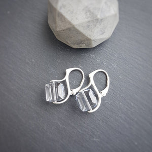 Cube Crystal Earrings, [product type], - Personalised Silver Jewellery Ireland by Magpie Gems
