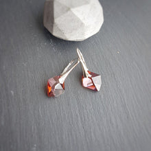 Load image into Gallery viewer, Red Magma Crystal Earrings, [product type], - Personalised Silver Jewellery Ireland by Magpie Gems