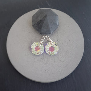 Sun Crystal Earrings | Choose your colour, [product type], - Personalised Silver Jewellery Ireland by Magpie Gems