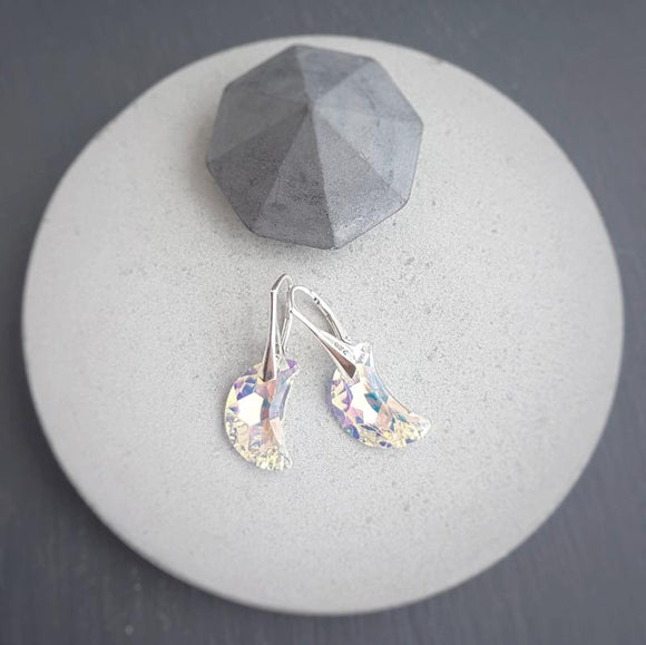 Moon Crystal Drop Earrings, [product type], - Personalised Silver Jewellery Ireland by Magpie Gems