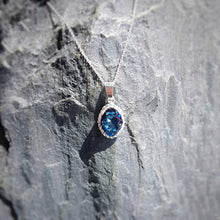 Load image into Gallery viewer, Blue Pave Style Oval Jewellery Set, [product type], - Personalised Silver Jewellery Ireland by Magpie Gems