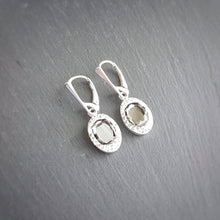 Load image into Gallery viewer, Oval Pave Style silver earrings | Choose your colour, [product type], - Personalised Silver Jewellery Ireland by Magpie Gems