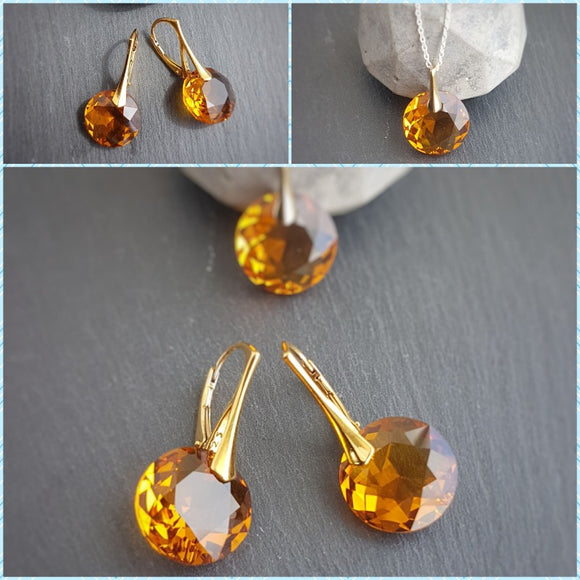 November Scorpio Topaz BIRTHSTONE set, [product type], - Personalised Silver Jewellery Ireland by Magpie Gems
