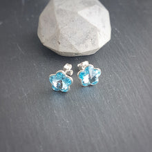 Load image into Gallery viewer, Little Miss Flower Stud Earrings | Choose your colour, [product type], - Personalised Silver Jewellery Ireland by Magpie Gems