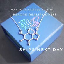Load image into Gallery viewer, Caffeine Molecule Silver Necklace, [product type], - Personalised Silver Jewellery Ireland by Magpie Gems