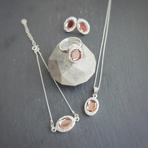 Blush Pink Fancy Jewellery Set, [product type], - Personalised Silver Jewellery Ireland by Magpie Gems