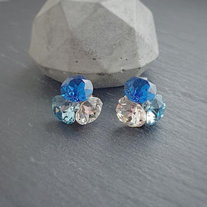 Blue Crystal Fusions Set, [product type], - Personalised Silver Jewellery Ireland by Magpie Gems
