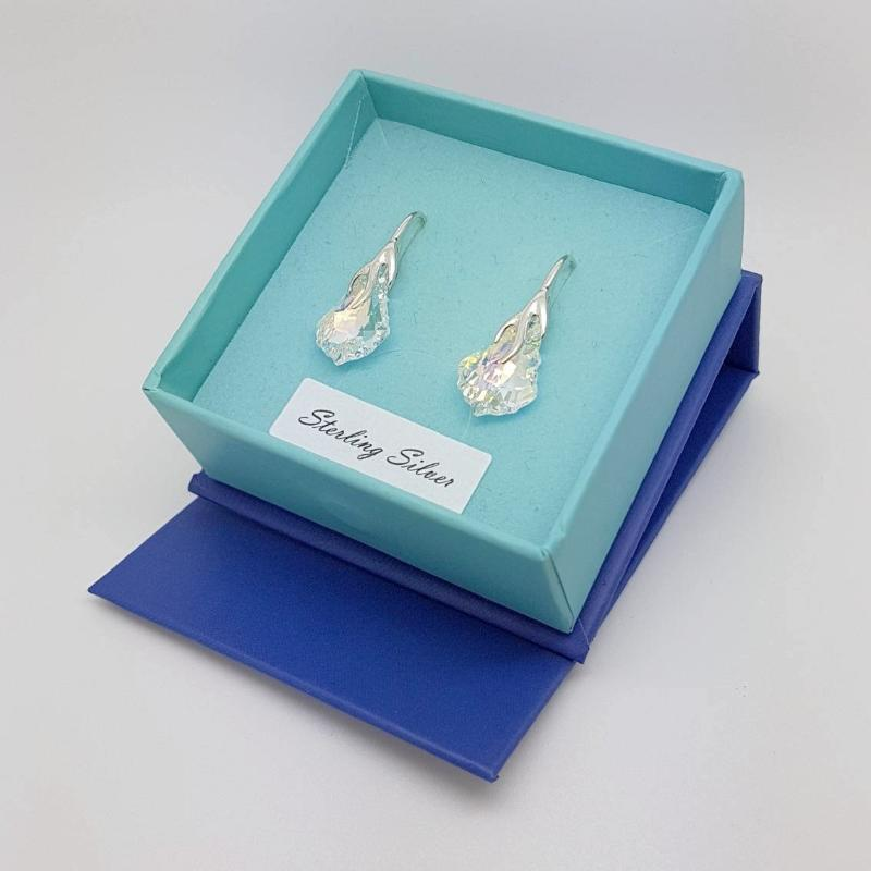 Baroque Crystal Earrings (S) | Choose your colour, [product type], - Personalised Silver Jewellery Ireland by Magpie Gems