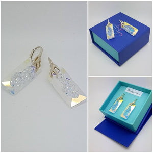 Growing Rectangle Crystal Jewellery set, [product type], - Personalised Silver Jewellery Ireland by Magpie Gems
