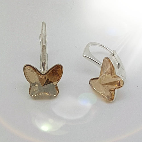 Little Miss Butterfly Earrings | Choose your colour, [product type], - Personalised Silver Jewellery Ireland by Magpie Gems