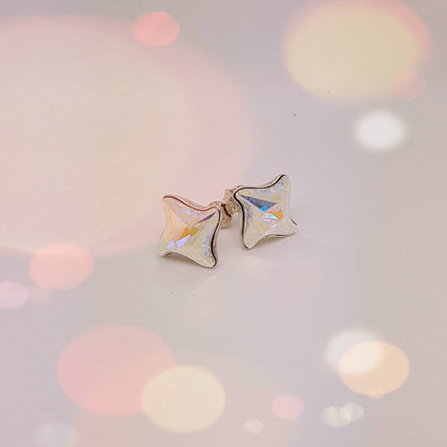 Twister Stud Earrings | More colours available, [product type], - Personalised Silver Jewellery Ireland by Magpie Gems