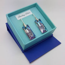 Load image into Gallery viewer, Growing Rectangle Crystal Earrings, [product type], - Personalised Silver Jewellery Ireland by Magpie Gems
