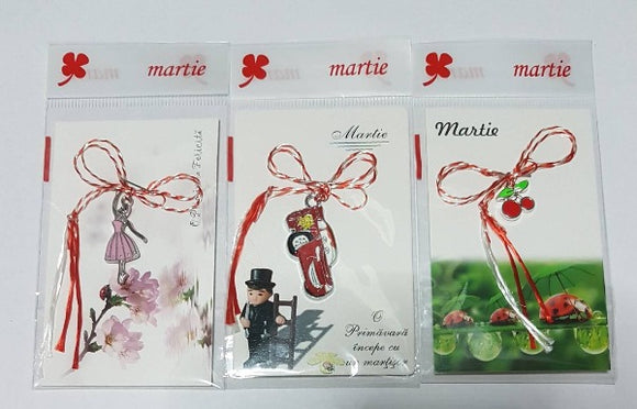 Ballerina, Car or Cherry Lucky Spring Charm | Martisor | Martenitsa | мартеница | μάρτης, [product type], - Personalised Silver Jewellery Ireland by Magpie Gems