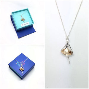Charming Fairy Ballerina Necklace, [product type], - Personalised Silver Jewellery Ireland by Magpie Gems