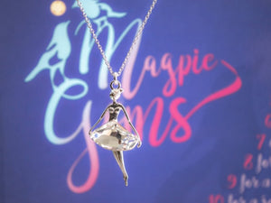 Fairy necklace with Swarovski Crystals, [product type], - Personalised Silver Jewellery Ireland by Magpie Gems