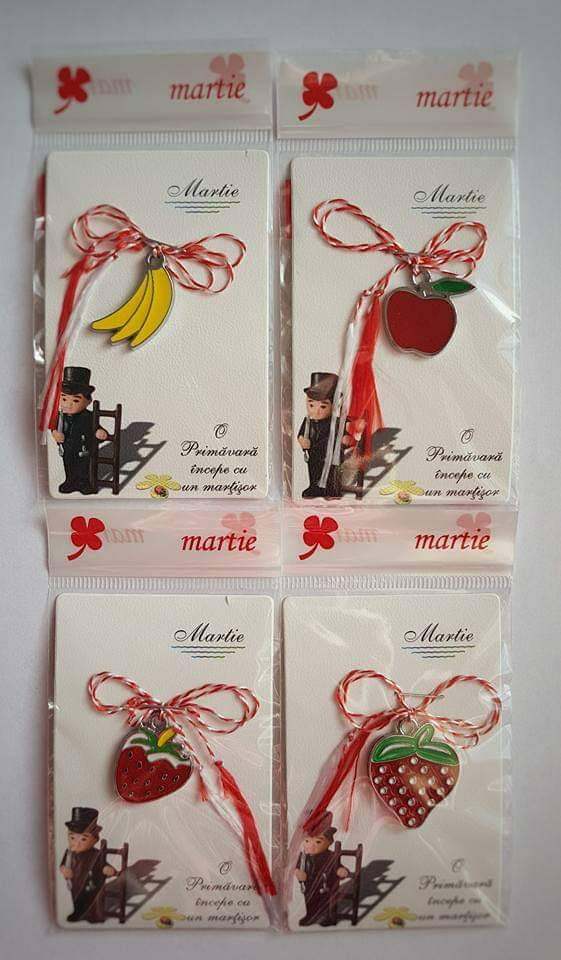 Banana, Strawberry or Apple Lucky Spring Charm | Martisor | Martenitsa | мартеница | μάρτης, [product type], - Personalised Silver Jewellery Ireland by Magpie Gems