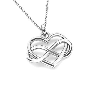 Infinity Love Silver Necklace, [product type], - Personalised Silver Jewellery Ireland by Magpie Gems