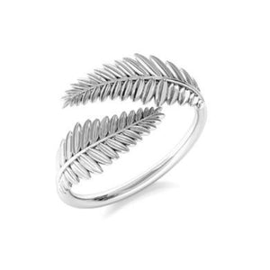 Leaf Silver Ring | Adjustable Ring