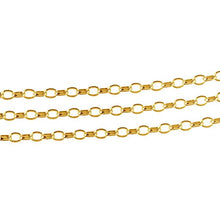 Load image into Gallery viewer, Name necklace with heavier chain gold plated